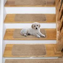 "Ottomanson Comfort Soft Shag Carpet Stair Treads (7), 9""X26"", Beige, 7 Count"
