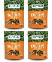 Rhythm Superfoods Kale Chips, Zesty Nacho, Organic and Non-GMO, 2.0 Oz (Pack of 4), Vegan/Gluten-Free Superfood Snacks