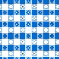 """Party Essentials Heavy Duty Printed Plastic Table Cover Available in 44 Colors, 54"""" x 108"""", Blue Gingham"""