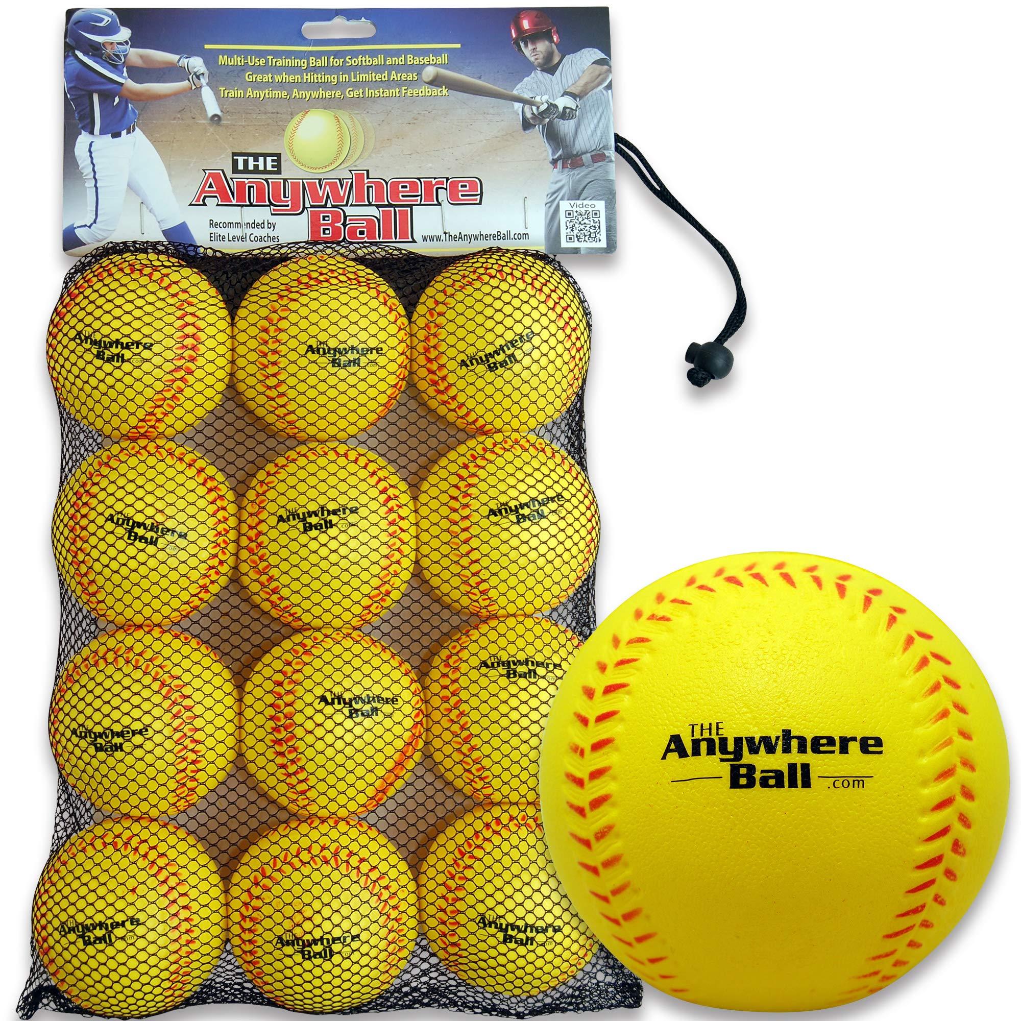 The Anywhere Ball Baseball/Softball Foam Training Ball (12 Pack)