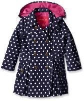 London Fog Baby Girls' Lightweight Polka Dot Trench Coat