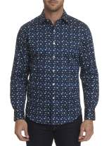 Robert Graham Tesoro L/S Printed Woven Shirt Classic Fit Navy Small