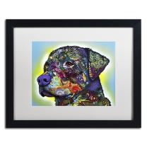 The Rottweiler by Dean Russo, White Matte, Black Frame 16x20-Inch