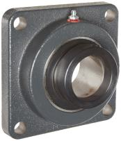 "Browning VF4E-210 Normal-Duty Flange Unit, 4 Bolt, Eccentric Lock, Regreasable, Contact and Flinger Seal, Cast Iron, Inch, 5/8"" Bore, 2-1/8"" Bolt Hole Spacing Width, 3"" Overall Width"