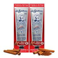 Dr. Sheffield's Certified Natural Toothpaste (Cinnamon) - Great Tasting, Fluoride Free Toothpaste/Freshen Your Breath, Whiten Your Teeth, Reduce Plaque (2-Pack)