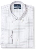 Amazon Brand - Buttoned Down Men's Slim Fit Button Collar Pattern Dress Shirt