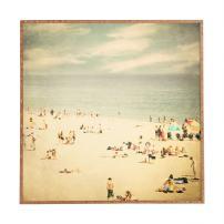 Deny Designs Shannon Clark Vintage Beach Framed Wall Art, 30 x 30
