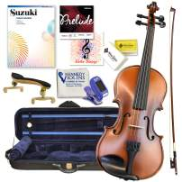 Antonio Giuliani Etude Violin Outfit 1/2 Size By Kennedy Violins - Carrying Case and Accessories Included - Solid Maple Wood and Ebony Fittings