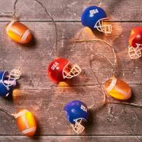 Lights4fun, Inc. 10 American Football & Helmet Indoor Battery Operated LED String Lights