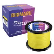 RIKIMARU Braided Fishing Line Abrasion Resistant Superline Zero Stretch&Low Memory Extra Thin Diameter 327-1094 Yds, 4-180LB