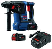 """Bosch GBH18V-26K24 18V EC Brushless 1"""" SDS-plus Bulldog Rotary Hammer Kit with CORE18V 6.3 Ah Batteries"""