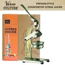 Hand Press Citrus Juicer by Verve CULTURE   Vintage-Look Countertop Orange and Lemon Squeezer   Antique-Style Manual Juice Extractor