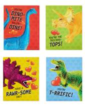 American Greetings Valentine's Day Cards for Kids Classroom, Dinosaur Stickers (28-Count)