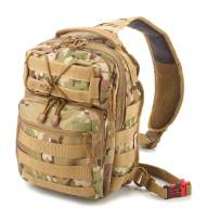 Small Tactical Shoulder Sling Pack w/Molle EDC Bug Out Bag