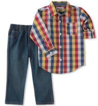 Kids Headquarters Baby Boys' Woven Shirt Pant Sets