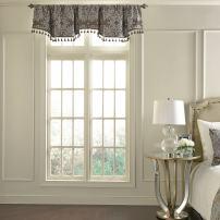 Beautyrest 48 x 18 Short Valance Small Window Curtains Bathroom, Living Room and Kitchens, Mushroom