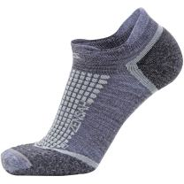 Zensah No Show Wool Running Socks for Men and Women with Cushion Padding - Moisture Wicking, Anti Blisters, Grit Sports Socks