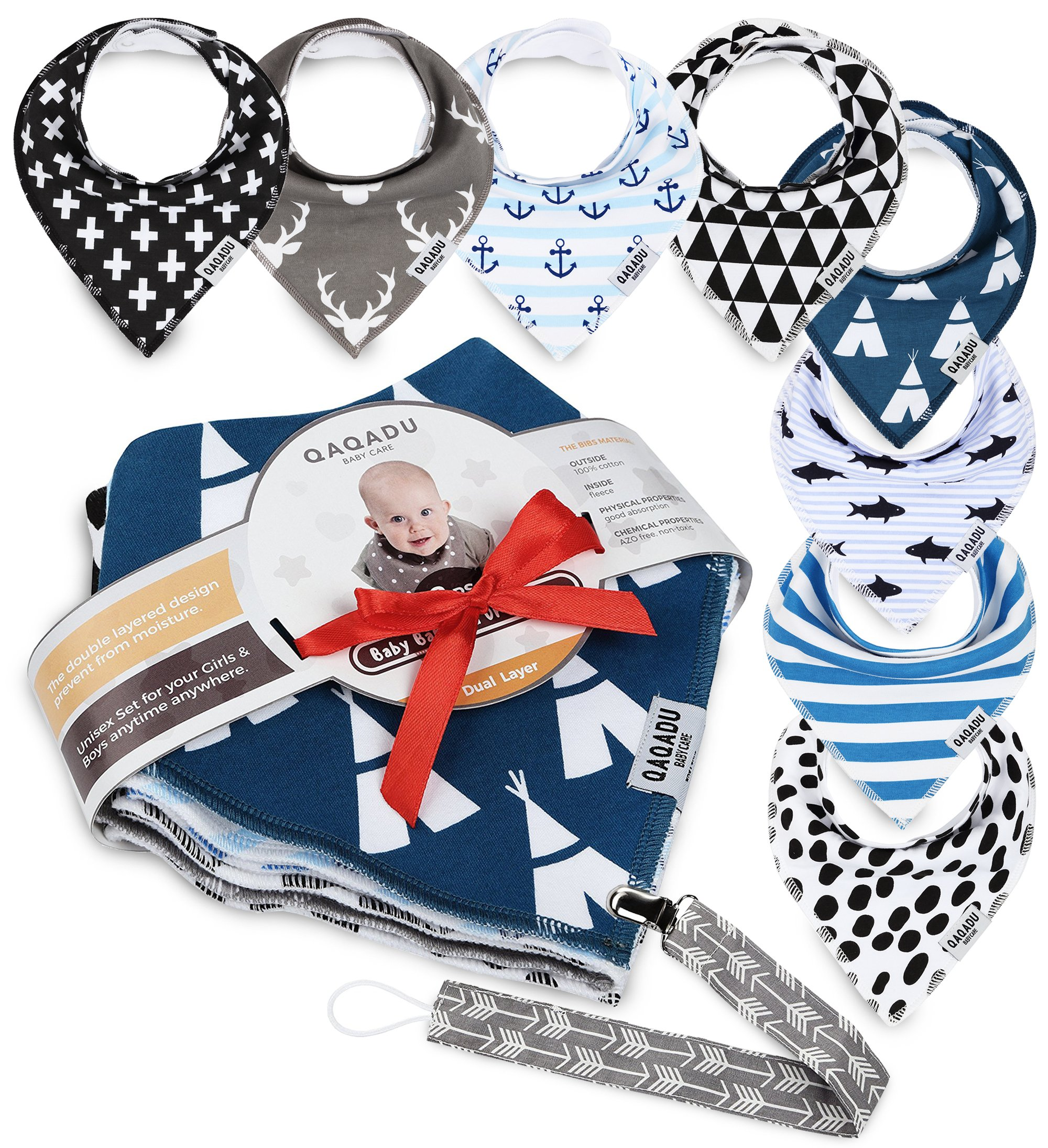 Baby Dribble Bibs Bandana for Girls Boys Unisex Set of 4 Yellow Cotton Gift Pack for Teething Fit Newborn Toddlers Soft Absorbent with Adjustable Snap Closure Stylish Pattern