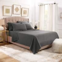 6 Piece Queen Sheets - Bed Sheets Queen Size – Bed Sheet Set Queen Size - 6 PC Sheets - Deep Pocket Queen Sheets Microfiber Queen Bedding Sets Hypoallergenic Sheets - Queen - Charcoal Gray