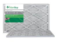 FilterBuy 14x25x1 MERV 8 Pleated AC Furnace Air Filter, (Pack of 2 Filters), 14x25x1 – Silver