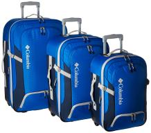 Columbia 3 Piece Expandable Spinner Luggage Set, Blue