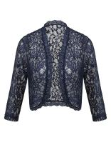 Pinspark Women's Lace Crochet Shrug 3 4 Sleeve Open Front Lightweight Bolero Cardigan for Dress S-XXL