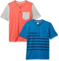 Amazon Brand - Spotted Zebra Boys Short-Sleeve Henley T-Shirts