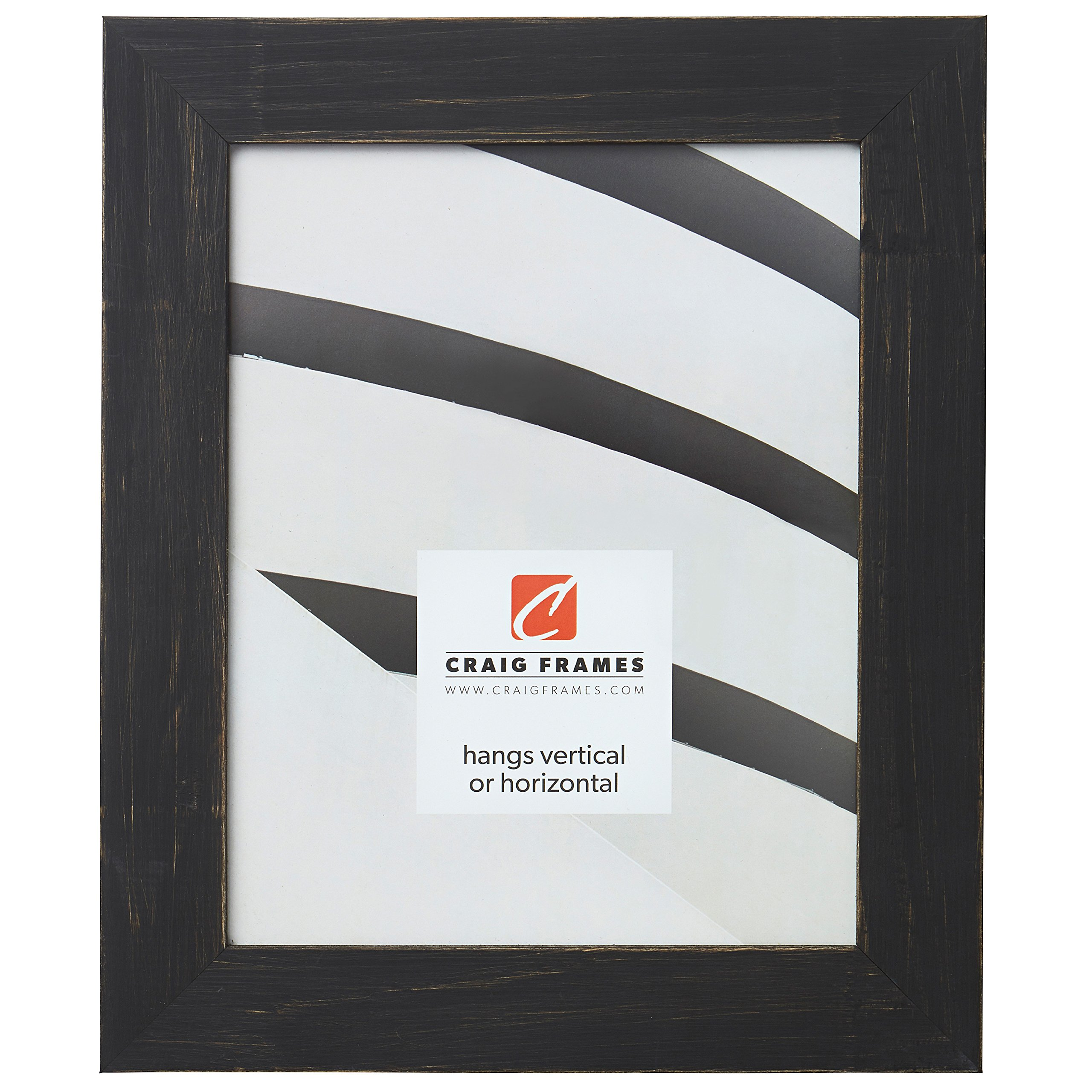 Craig Frames Jasper Picture Frame, 13 x 19 Inch, Country Charcoal Black