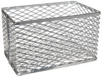 Heathrow Scientific HD20341A Aluminum Small Test Tube Basket, 152mm Length x 152mm Width x 152mm Height