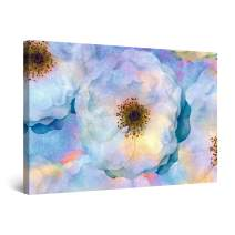 "Startonight Canvas Wall Art Rainbow Macro Flower Watercolor Painting Framed 32"" x 48"""