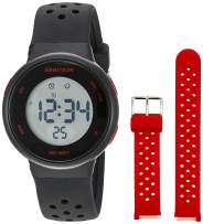 Armitron Sport Unisex Digital Chronograph Interchangeable Silicone Strap Watch, 45/7124