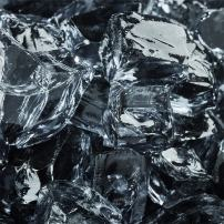 Storm Gray - Fire Glass for Indoor and Outdoor Fire Pits or Fireplaces   10 Pounds   1/2 Inch