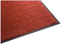 Guardian Platinum Series Indoor Wiper Floor Mat, Rubber with Nylon Carpet, 2'x2', Red