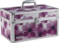 Vaultz Locking Makeup Artist Case, Purple Floral (VZ03749)