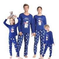 Vopmocld Christmas Family Matching Pajama Red Holiday Pjs Sets Cotton Sleepwear