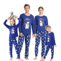 Vopmocld Christmas Family Matching Pajama Red Holiday Pjs Sets Cotton Sleepwear