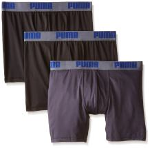 PUMA Men's 3 Pack Performance Boxer Brief