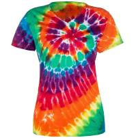 Magic River Ladies V Neck Tie Dye T Shirts for Women - 5 Women's Sizes - 6 Color Patterns