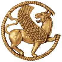 Design Toscano Persian Griffin Wall Sculpture, 12 Inch, Antique Gold