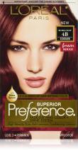 L'Oréal Paris Superior Preference Fade-Defying + Shine Permanent Hair Color, 4B Burgundy, 1 kit Hair Dye
