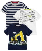 Simple Joys by Carter's Toddler Boys' 3-Pack Short-Sleeve Graphic Tees