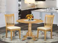 3 PC Dublin kitchen table set-Dining table and 2 cushion Kitchen chairs