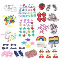Pickme Patch and Accessory Kit - Includes Sew On/Iron On Appliques, Decorations, Velcro and More - for Clothes, Shoes, Bags, Caps - The Perfect Addition to Your Pickme Crafting Organizer Box #5