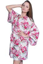 Taniri Cotton Floral Kimono Robes for Bride and Bridesmaids Wedding Party Gifts