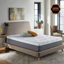 RENUE 10-Inch Hybrid Mattress, Copper & Gel Infused Memory Foam Cool Sleep, Innerspring Support, Bed in Box, Handcrafted in The USA, Full