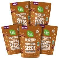 Go Raw Pumpkin & Sunflower Seed Snack Mix, Sweet Cinnamon, Keto | Vegan | Gluten Free| Organic | Superfood, 4 oz Bags, Pack of 5