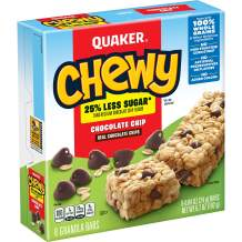 Quaker Chewy Granola Bars, Chocolate Chip, .84oz 8 count, 6.7oz