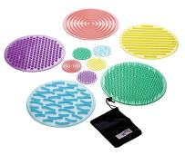 TickiT Silishapes Sensory Circles - in Home Learning Toy for Calming Sensory Play - Set of 10 - Assists Autistic Toddlers & Children