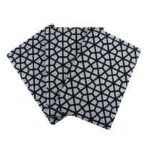 """Set of 3 Kitchen Towels, 100% Cotton of size 18""""X28 Inch, Eco - Friendly & Safe, Black Hive Design for Kitchen"""