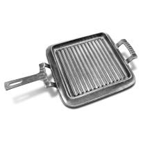 Wilton Armetale Gourmet Grillware Square Griddle Pan with Handle, 19.75-Inch